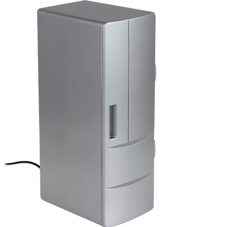 Free Shipping Summer Mini Appliance USB Refrigerator 2 Cans Beverage Fridge For PC Laptop Household Office Use Heating Machine(China (Mainland))