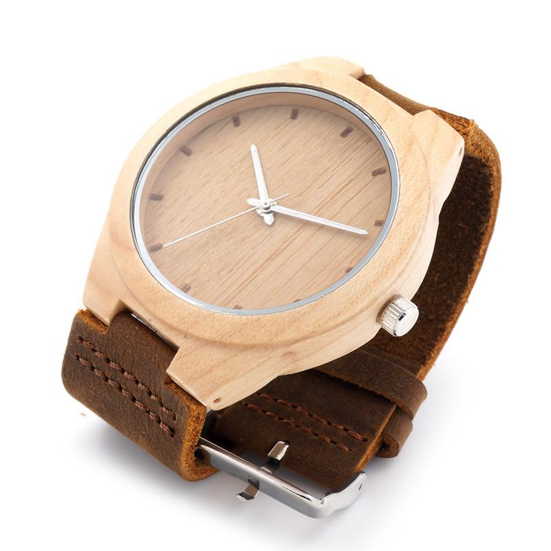 Mens Wooden Watches Maple Wood Luxury Quartz relojes mujer - ShenZhen GlobalPower Industry Co., LTD. store