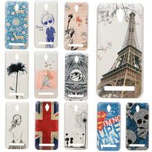 Adorable Colored Drawing Hard Back Case Cover For Asus Zenfone C ZC451CG Cell Phone Protective Cases Cover