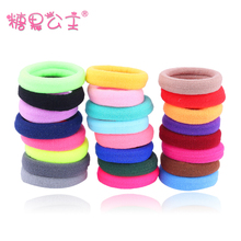 2016 New Rushed Women Children Fashion Solid Korean Princess Candy Colored Hair Elastic Rope Head Ornament Seamless Ring Rubber