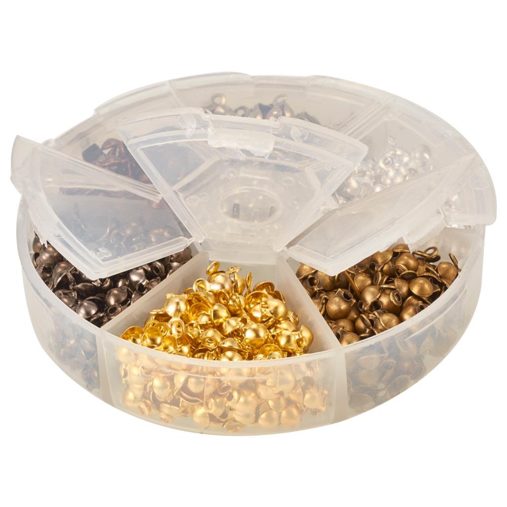 Pandahall Elite 1 Box Mixed Color Iron Bead Tips, Nickel Free, 8x4mm, Hole: 1.5mm; 3mm inner diameter<br><br>Aliexpress
