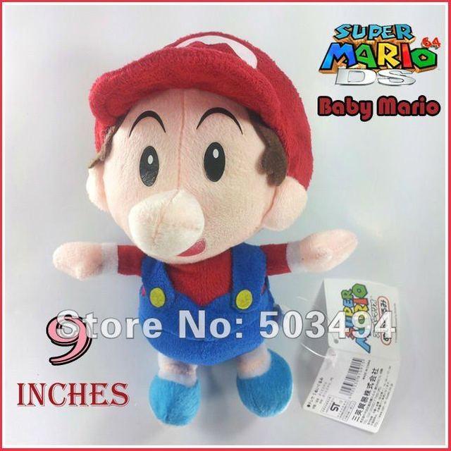 "Free shipping 4PCS Baby Mario,waluigi,luigi,wario baby plush Super Mario Bros Baby Mario Plush Toy Soft Doll Stuffed Animal 9"""