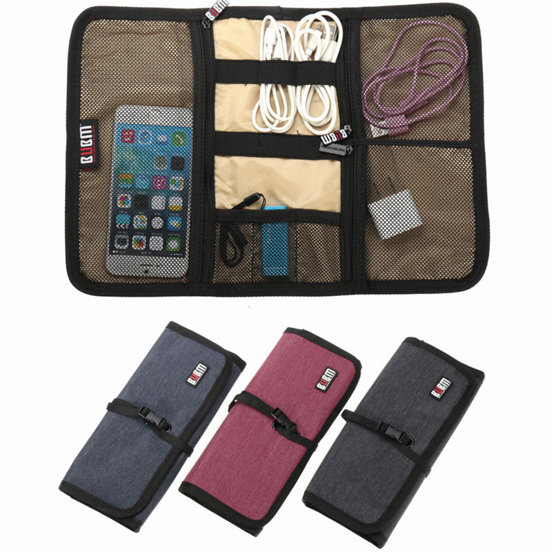 The Best Price Original Three Colors BUBM Spring Rolls Folding Carry Case M Size For Digital Storage Bag(China (Mainland))