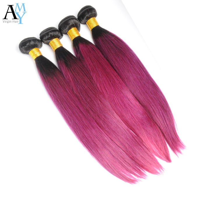 Best 7A Ombre Peruvian Straight Hair 5 Bundles 1B# Burght Ombre Human Hair Extensions Two tones Peruvian Straight Hair Weaves<br><br>Aliexpress