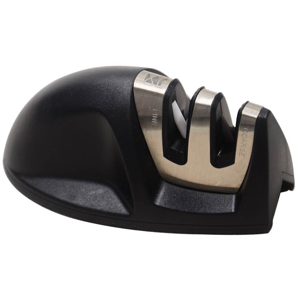 High Class Home Kitchen Knife Sharpener Professional Cooking Tools Two Stages Black Color Mini Knife Sharpener New Arrival(China (Mainland))