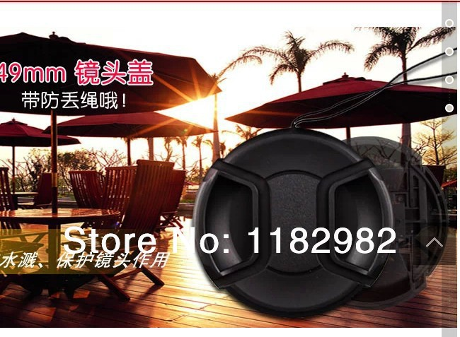 Free 100pcs Snap-on Front 49mm Lens Cap cover for all 49mm digital SLR camera<br><br>Aliexpress