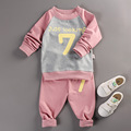 Baby Boy Girls Clothing Sets 2017 New Fashion Letter Printed Long Sleeve T shirt Pants Suit