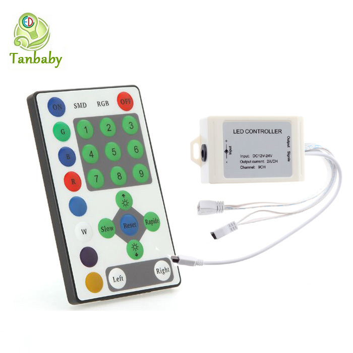Tanbaby 1piece LED RGB controller DC12V 3A*9 for Horse race led strips RGB led strip controller dimmer RoHS CE(China (Mainland))