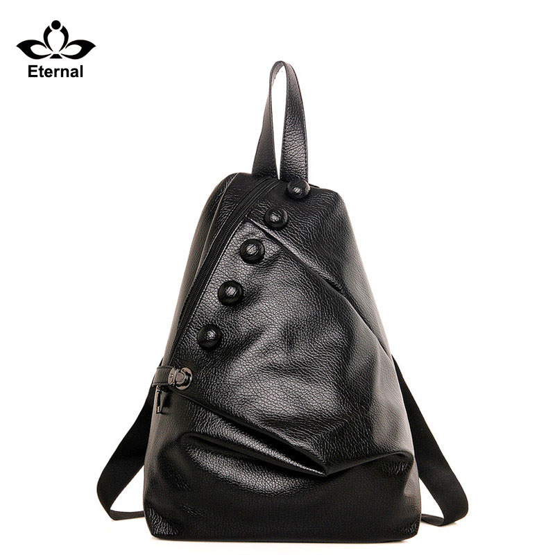 Women Backpack Schoolbags Women bag Natural Genuine Leather Backpack Cowhide Women Backpack Tote Bags Schoolbag Travelbags(China (Mainland))