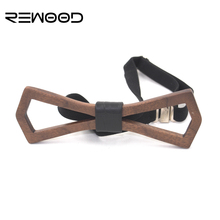 Fashion Accessories 2 Style Formal Business Wedding Classic Mens Hollowing Wooden Bow Tie With Magnetic Clasp Wood corbatas