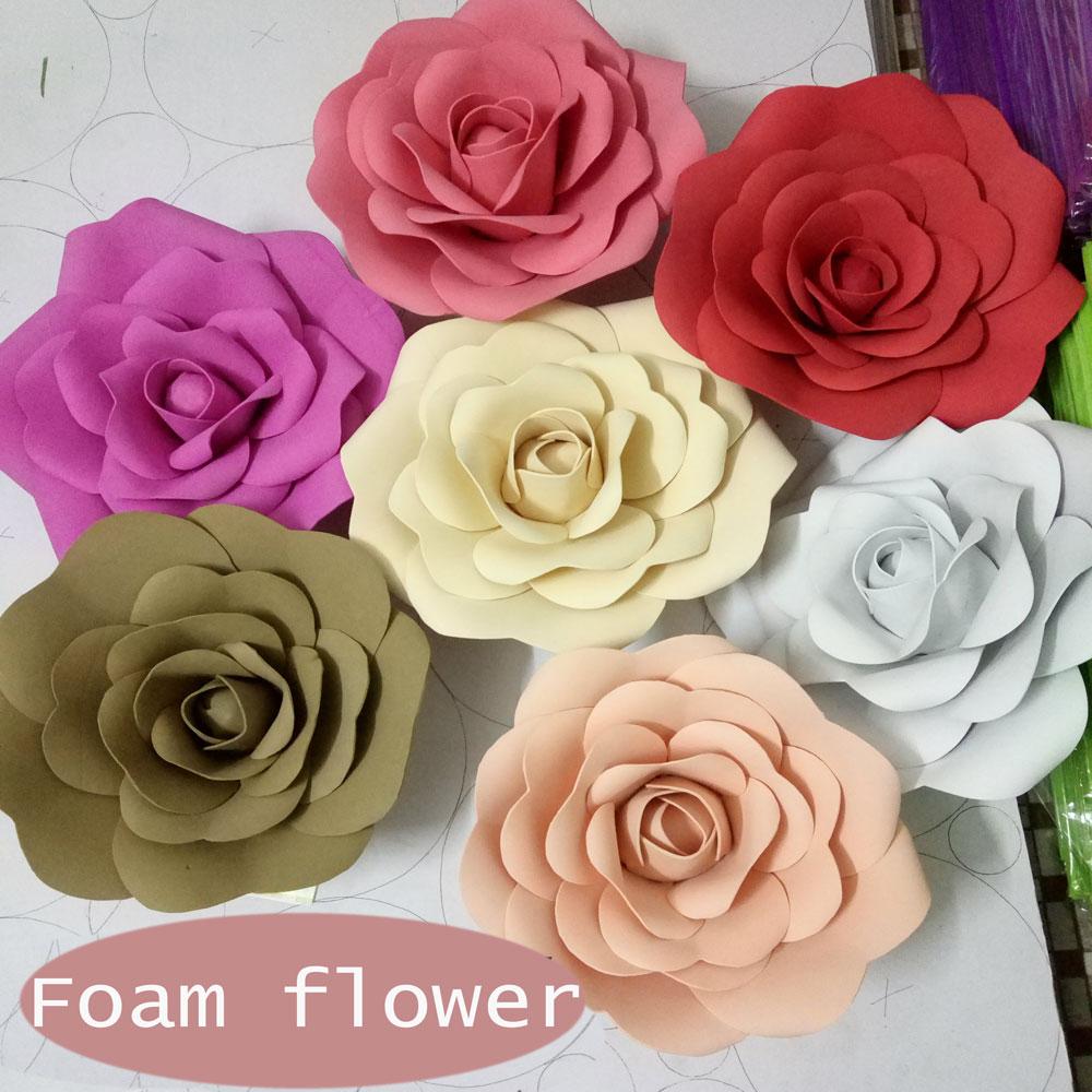 Цветы из бумаги большие на стену