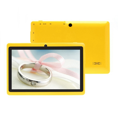iRulu eXpro Tablet PC 7 inch Android 4.2.2 Q88 Yellow Pad 512MB+16GB Allwinner A23 Dual Core 1.5GHz Dual Camera W/Keyboard Case(China (Mainland))