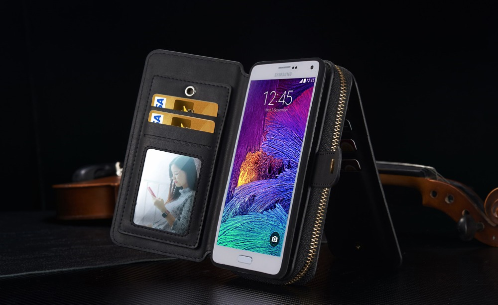 2016 Luxury Leather Phone Cases For Samsung Galaxy Note 4 case Smartphone Android Mobile Phone Bag Celular For Samsung Note 4(China (Mainland))
