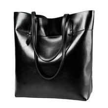 Women Big Waterproof Handbags Genuine Leather Oil Wax Cowhide Shoulder Bags Lady Leather Large Tote Bags Generous cossbody bag