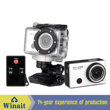 Newest sports camera DV-126 Built-in WIFI 1080P RTC PC webcam action camera Wide angle viewing Chinese used camcorder underwater(China (Mainland))