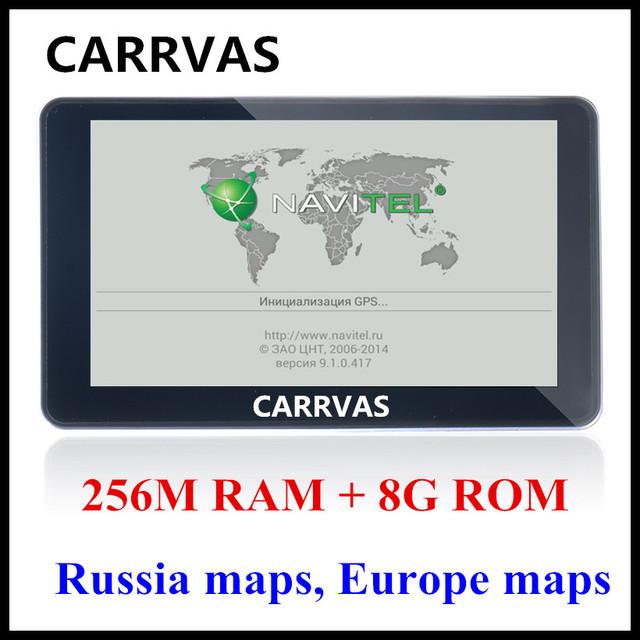 CARRVAS 7 дюймов HD Автомобильный GPS Навигации FM 8 ГБ/256 М DDR/800 МГЦ 2016 Карта Бесплатный обновить Россия/Беларусь/Испания/Европа/США + Канада