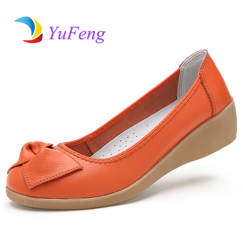 Гаджет  New Fashion Women Flat Shoes 2015 Comfortable Women Genuine Leather Flats Spring/autumn Casual Loafers Sapato Feminino Moccasins None Обувь