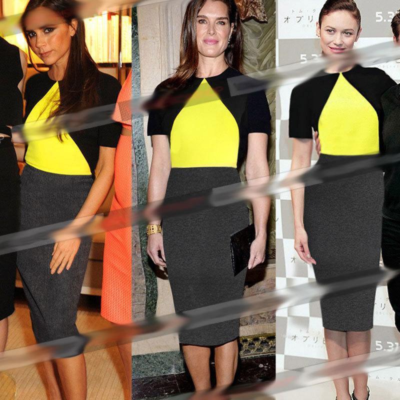 Fashion Summer Dress 2015 O-Neck Patchwork Cute Brief Midi Woman Clothes YLTLL772 - SSOS store