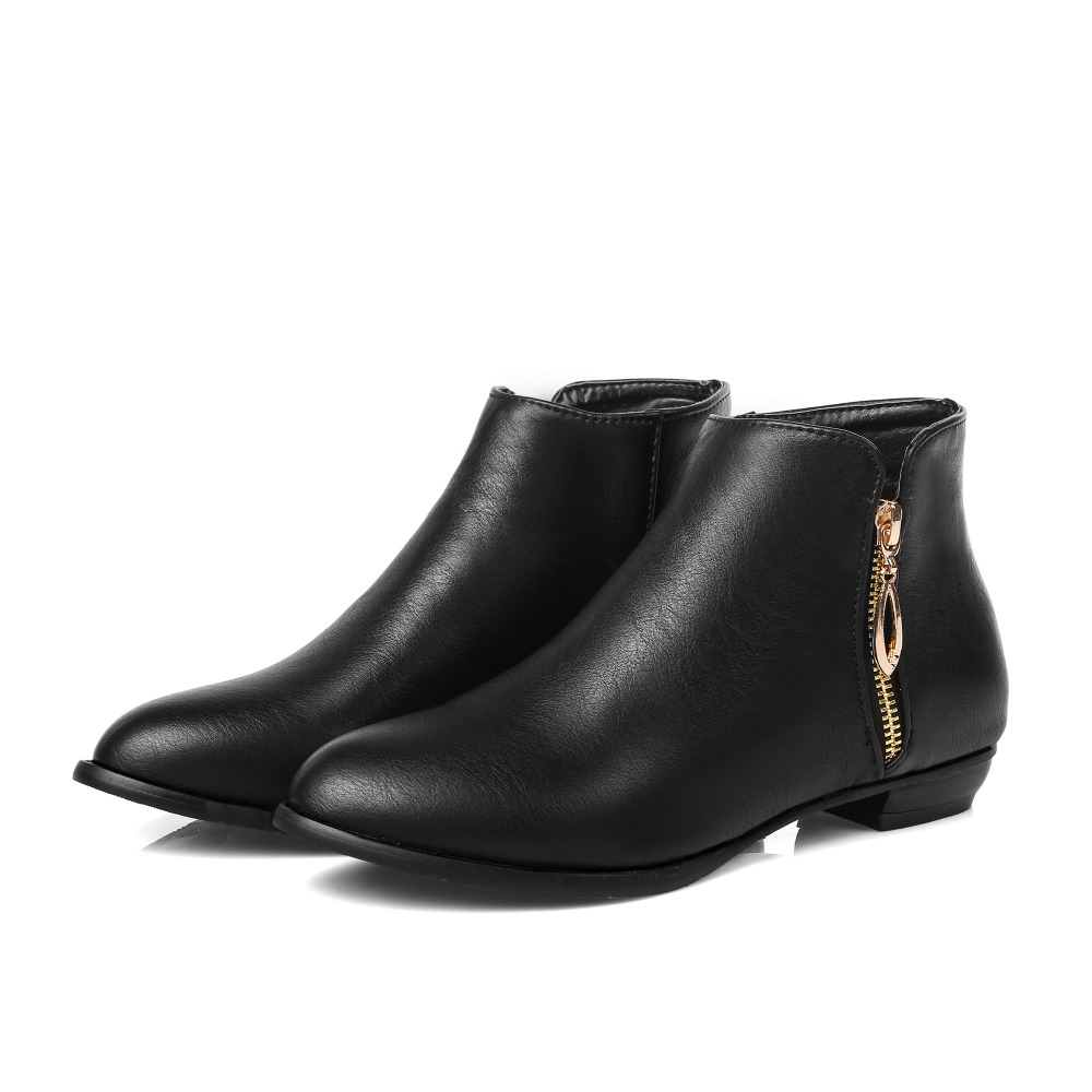 leather ankle boots low heel