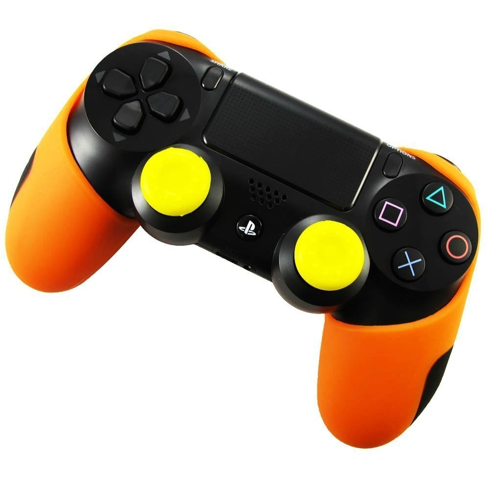 image for Silicone Gel Rubber Case Skin Grip Cover For Playstation 4 PS4 Control