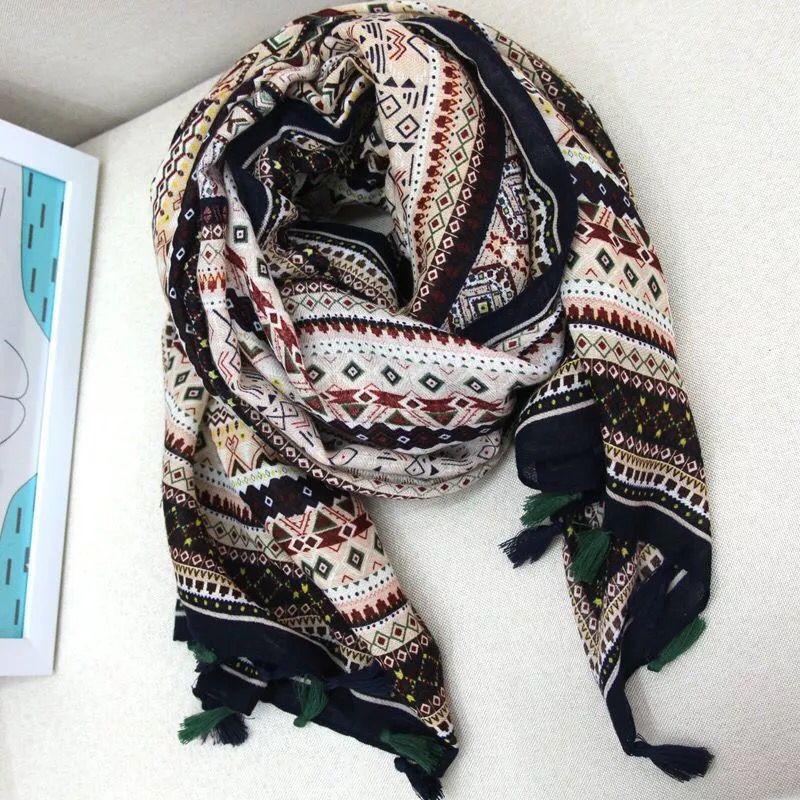 2016 summer scarf women Persian Mia Tibetan grasslands colored scarves shawl sun beach towel air conditioning cape(China (Mainland))