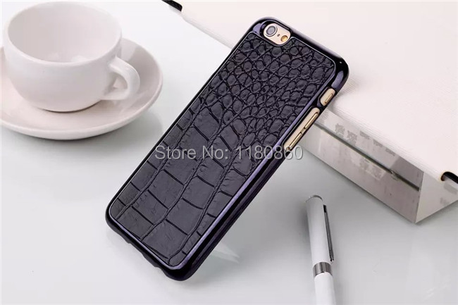 Luxury Black Crocodile Pattern Case Cover For Apple iphone 6 Plus 5.5 inch For Apple iphone 6 4.7 inch cases ,Mobile Phone Cases(China (Mainland))
