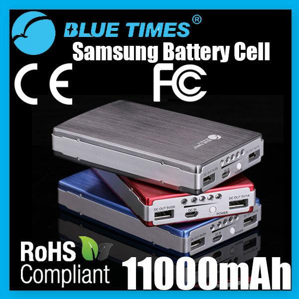 Universal 11000mAh Mobile Phone Power Bank Dual USB Output Portable External Battery for iPhone iPad Smartphone Samsung