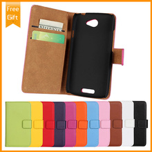 Flip genuine leather Magnetic Closure Flip Case Cover Hard Shell Pouch For HTC One S Z520e Real Wallet + Free Shipping+Gift(China (Mainland))