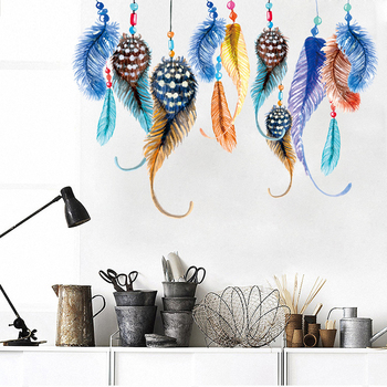 DIY Wall Sticker Feather Wall Decals Wedding Decoration Gifts Adesivo de Parede Poster Stickers for Home Decor Free shipping