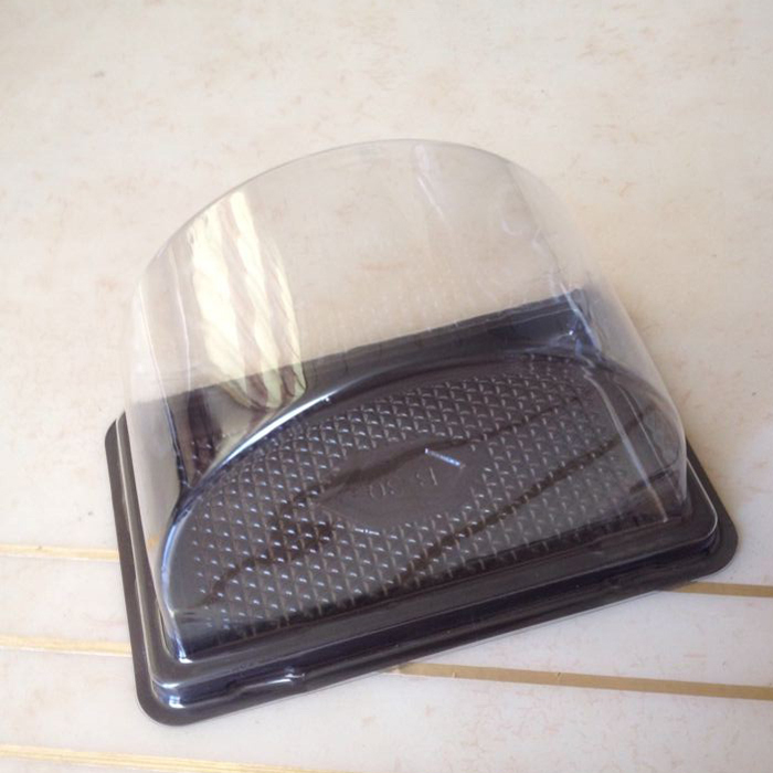 11.5*6.5*8CM Arch egg roll container Disposable Plastic Transparent cake blister box 100pcs(China (Mainland))