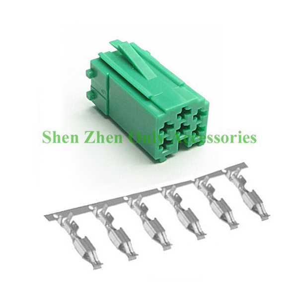 6 Pin Car MINI ISO Connector Cable Stecker Contacts for VW Becker Audi Skoda Seat Becker Green Color(China (Mainland))