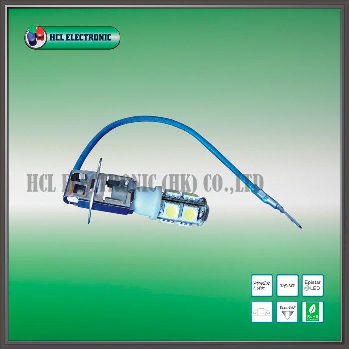 Free shipping 2 pcs lot H3 LED car bulb 9pcs Ultra Bright 5050SMD white red blue