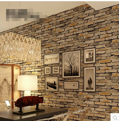 Paper colors picture more detailed picture about new 3d for Brick wallpaper living room ideas