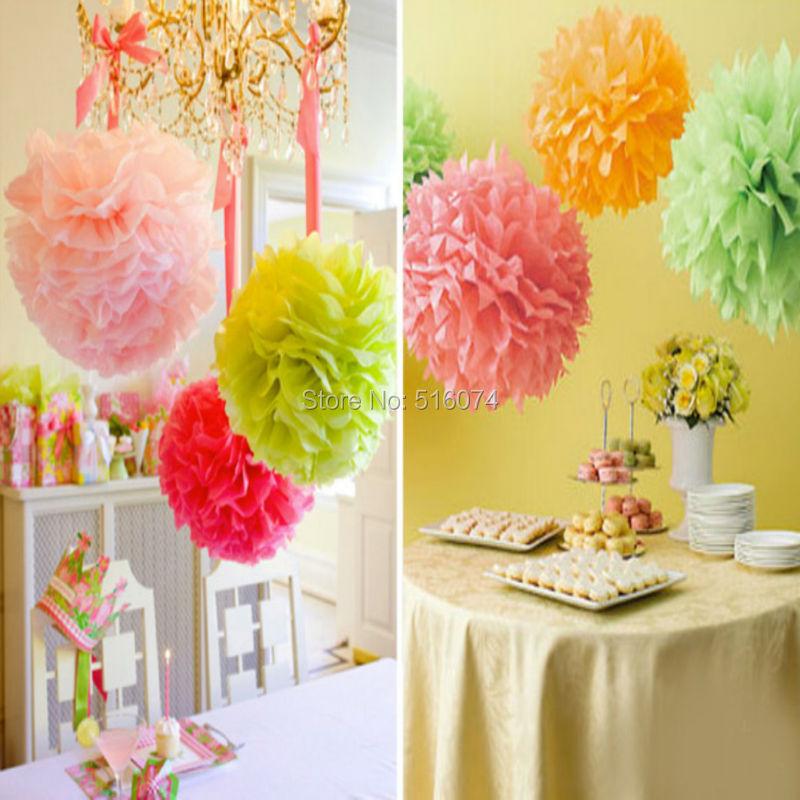 Wholesale 10inch 25cm Handmade 27colors Wedding Paper Flowers Ball ...