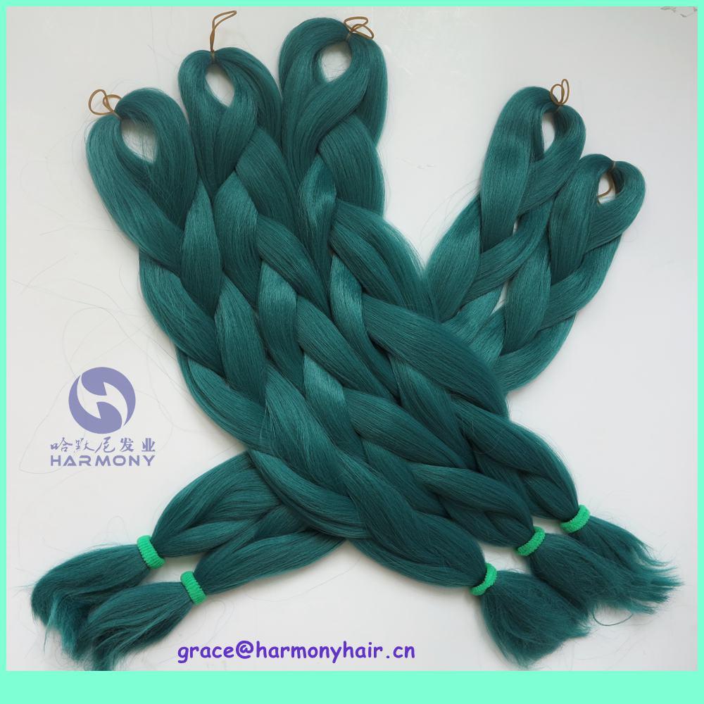 (10packs/lot) 24 inch one tone color yaki braiding hair/jumbo hair extensions dark green stock - Harmony Fashion extension & tools Supply store