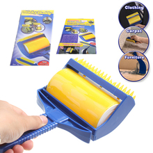 Washable Sticky Hair Sticky Built-in Rubber wtih Brush Wool Dust Catcher Carpet Sheets Sucking Dust Drum Lint Rollers(China (Mainland))
