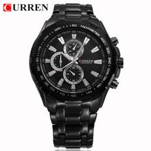 Venta caliente CURREN 8023 marca de lujo superior hombres militar reloj de pulsera de acero lleno hombres reloj deportivo impermeable Relogio Masculino