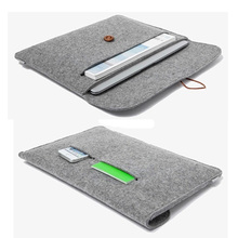"""High quality felt sleeve for macbook air pro retina 11.6""""  notebook liner sleeve 13.3"""" laptop bag 15.4 ultrabook pouch for woman(China (Mainland))"""
