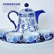 Tea set coffee set teaberries cup ceramic fashion blue and white tea set