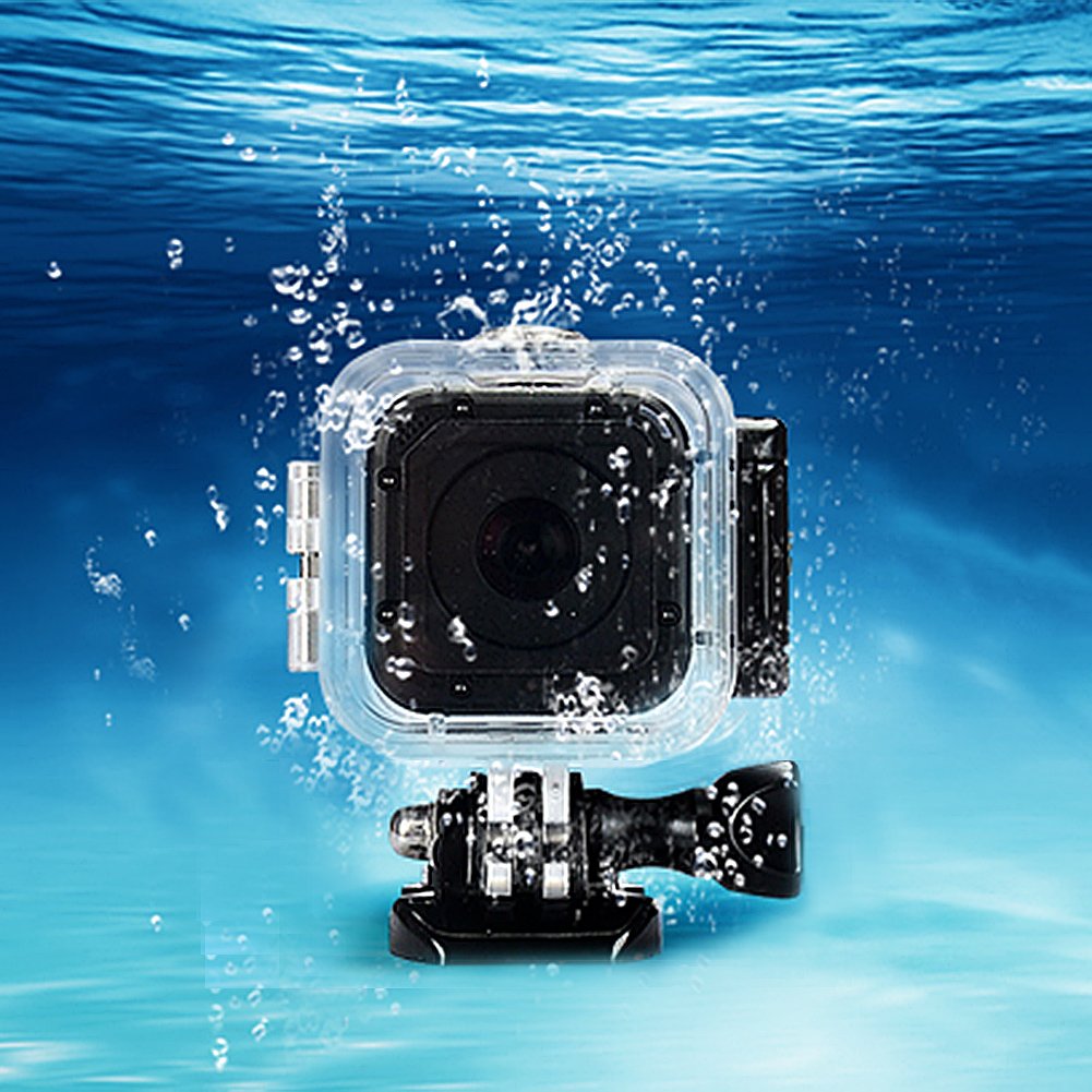 Hot Sale Transparent Waterproof Camera Housing Case for GoPro Hero 4 with Base Screw Diving Protective Tool(China (Mainland))