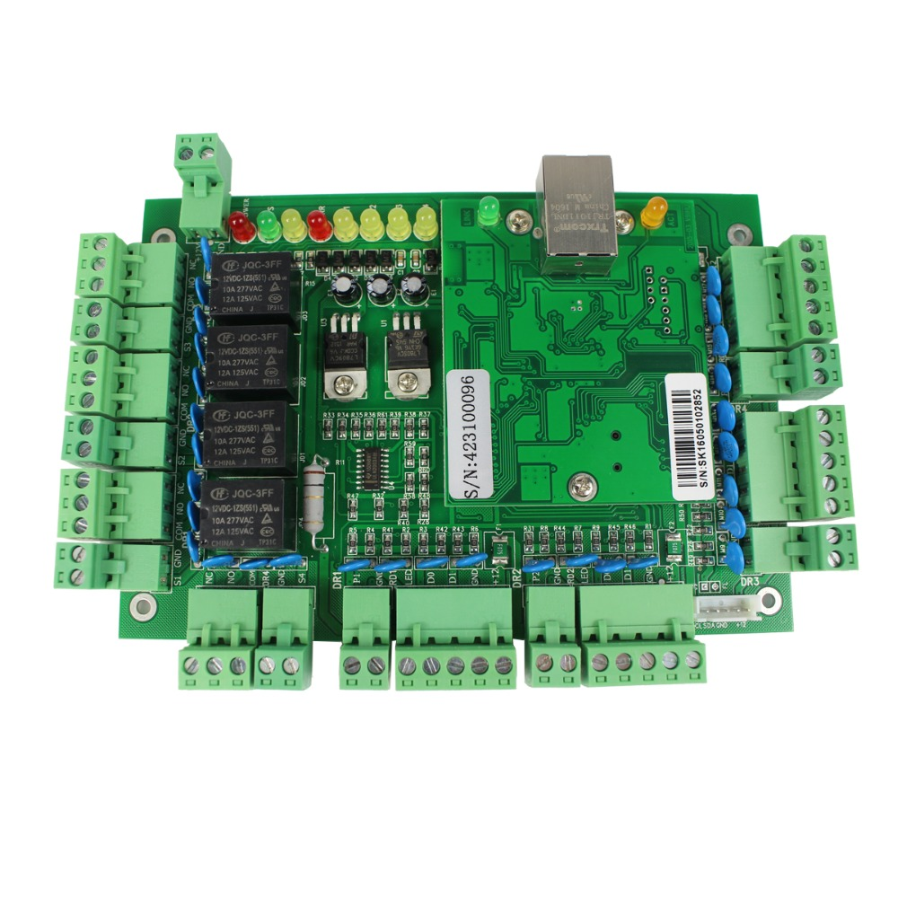 Generic Wiegand TCP/IP Network Entry Access Control Board Panel Controller for 4 Door 4 Reader F1648G(China (Mainland))