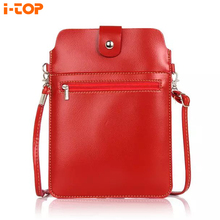 Luxury Double Pockets Messenger Bag Backpack Belt Pouch Wallet Case Cover ZTE blade a1 a510 x3 x7 i3 v7 lite 8.0 inch - Shenzhen i-TOP Phone accessories Co., Ltd. store