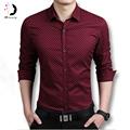 Hot Fashion Men Shirts Long Sleeved Casual Men s Slim Fit Shirts Dress Cotton Fashion Shirt