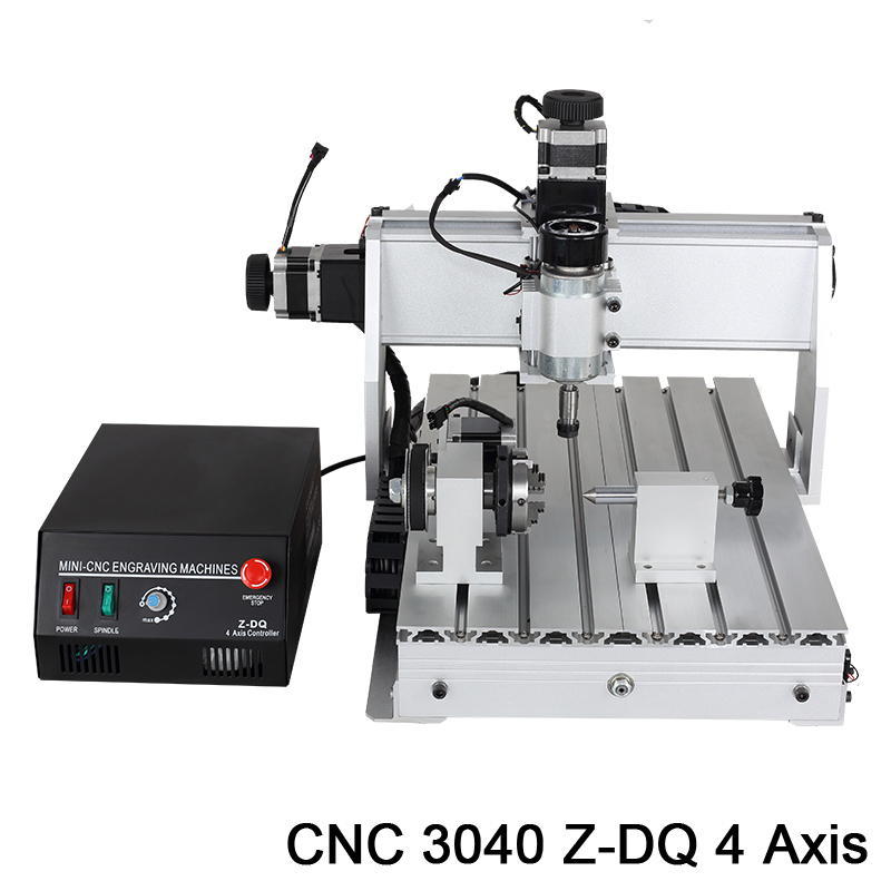 3040 4 Axis 3D mini cnc woodworking milling machine router drill carving cutting engraver pcb sets wood tool lathes machinery(China (Mainland))