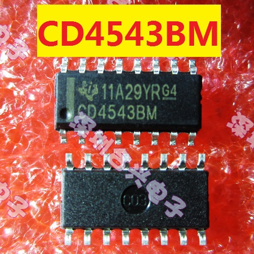 [CWB] CD4543BM CD4543 electronic decoder / driver 100% authentic patch(China (Mainland))