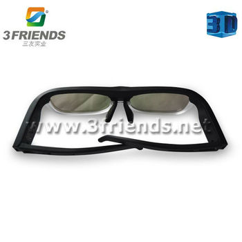 Free shipping 3D active shutter bluetooth glasses rechargeable battery