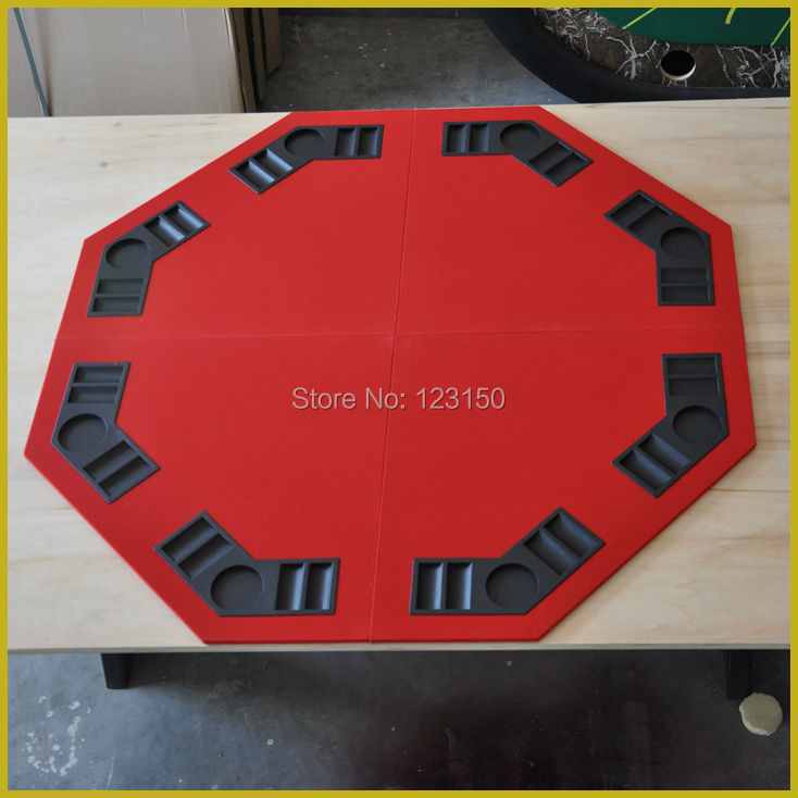 ET-02  Foldable Casino tabletop, Four fold, for Texas Holdem Game, Red<br><br>Aliexpress