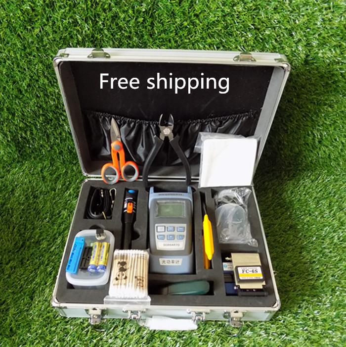 DHL Free shipping Tools Kit,Fiber Optic Fast Connector Tools,Optic Power Meter,Optic Fiber Cleaver,Visual Fault Locater 10km(China (Mainland))