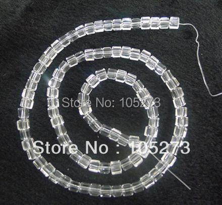 New Arriver Crystal Jewelry 4-8mm White Square Angle Loose Beads 15 / String Top Quality Fashion Jewelry New Free Shipping<br><br>Aliexpress