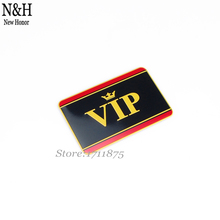 Buy VIP 80x50mm Logo Aluminium Alloy Car Styling Accessories Emblem Side Stickers Auto Badge Honda Audi Benz VW Ford Nissan for $4.52 in AliExpress store